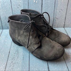 Dansko Lucille Dark Gray Lace Up Booties Size 41